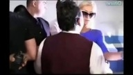 Paris Hilton Falls - Knocked Down In Paparazzi Fight