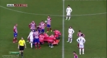 Cristiano Ronaldo Horror Foul Javier Manquillo Atletico Madrid vs Real Madrid