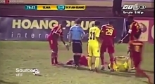 VIDEO: HORRENDOUS Leg breaking tackle earns player 28 match ban in Vietnam